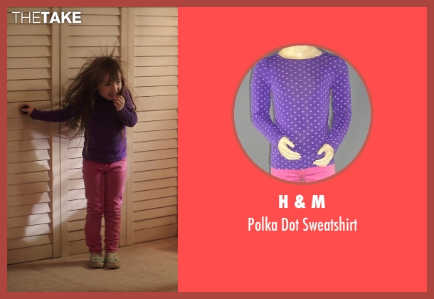 H & M purple sweatshirt from Poltergeist seen with Kennedi Clements (Madison Bowen)