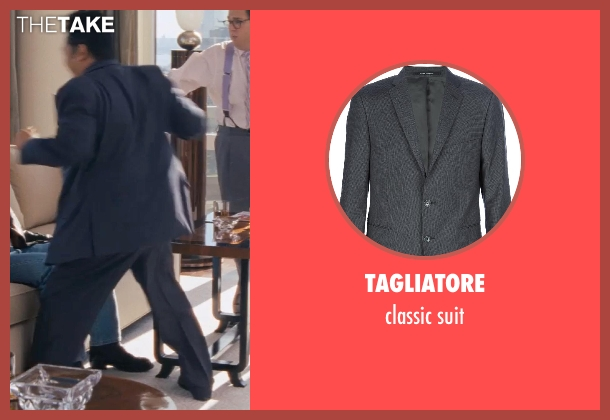 TAGLIATORE gray suit from The Wolf of Wall Street seen with Kenneth Choi (Chester Ming)