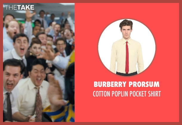 BURBERRY PRORSUM yellow shirt from The Wolf of Wall Street seen with Kenneth Choi (Chester Ming)
