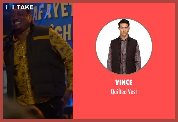 Vince brown vest from Speechless seen with Kenneth (Cedric Yarbrough)