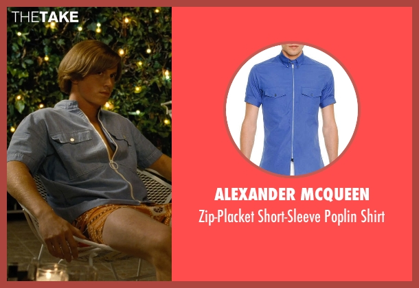 Alexander McQueen	 blue shirt from Love & Mercy seen with Kenny Wormald (Dennis Wilson)