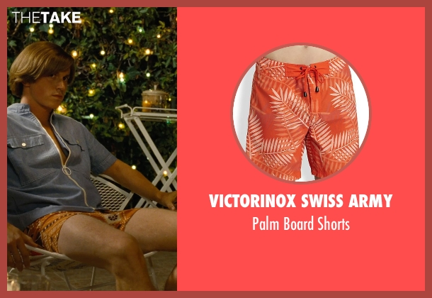 Victorinox Swiss Army orange shorts from Love & Mercy seen with Kenny Wormald (Dennis Wilson)