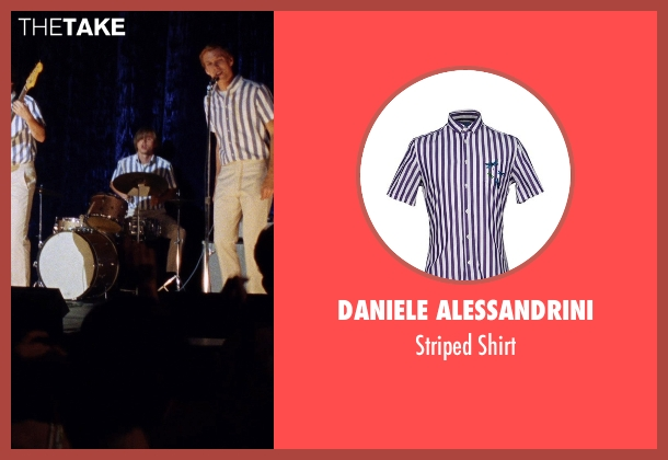 Daniele Alessandrini purple shirt from Love & Mercy seen with Kenny Wormald (Dennis Wilson)