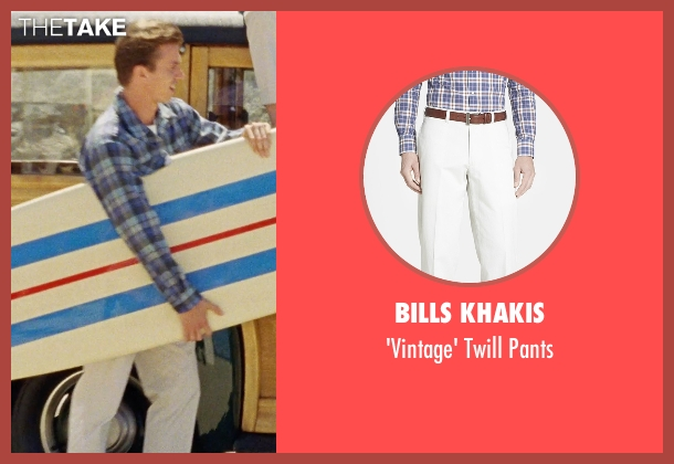 Bills Khakis white pants from Love & Mercy seen with Kenny Wormald (Dennis Wilson)