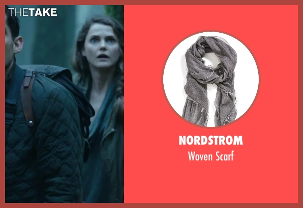 NORDSTROM gray scarf from Dawn of the Planet of the Apes seen with Keri Russell (Ellie)