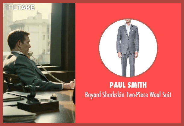 Paul Smith gray suit from Black Mass seen with Kevin Bacon (Charles McGuire)