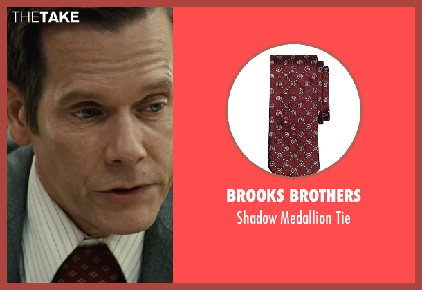 Brooks Brothers red tie from Black Mass seen with Kevin Bacon (Charles McGuire)