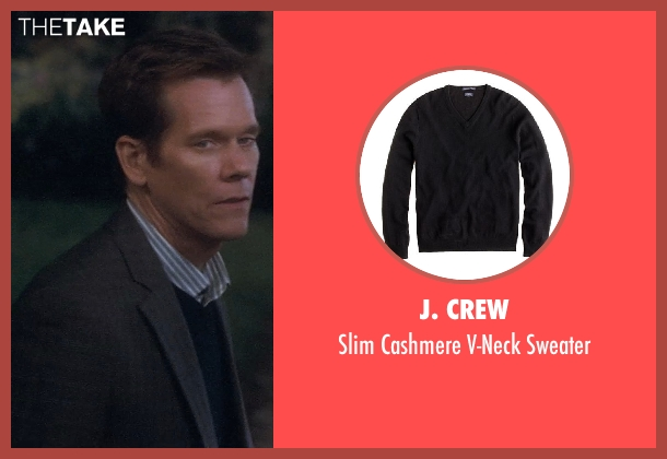 J. Crew black sweater from Crazy, Stupid, Love. seen with Kevin Bacon (David Lindhagen)