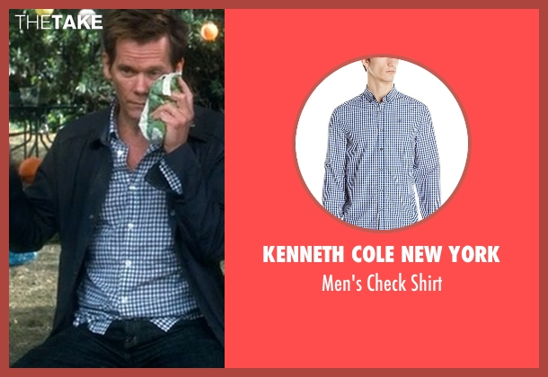 Kenneth Cole New York blue shirt from Crazy, Stupid, Love. seen with Kevin Bacon (David Lindhagen)
