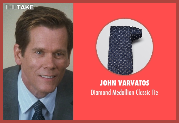 John Varvatos blue tie from Crazy, Stupid, Love. seen with Kevin Bacon (David Lindhagen)