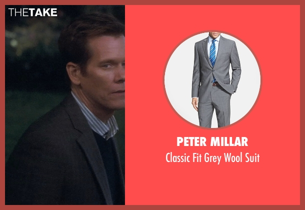 Peter Millar gray suit from Crazy, Stupid, Love. seen with Kevin Bacon (David Lindhagen)