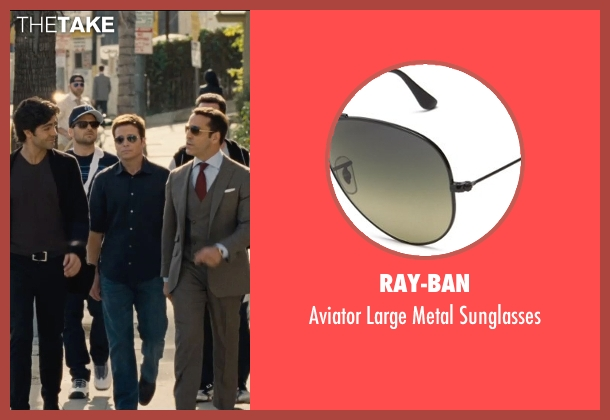 Ray-Ban black sunglasses from Entourage seen with Kevin Connolly (Eric Murphy)