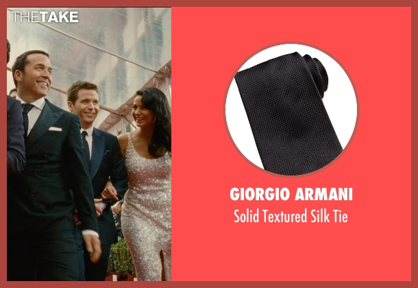Giorgio Armani black tie from Entourage seen with Kevin Connolly (Eric Murphy)