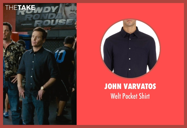 John Varvatos blue shirt from Entourage seen with Kevin Connolly (Eric Murphy)