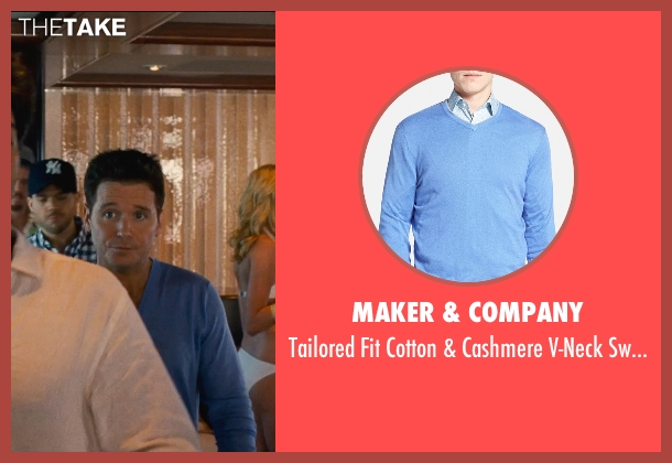 Maker & Company blue sweater from Entourage seen with Kevin Connolly (Eric Murphy)