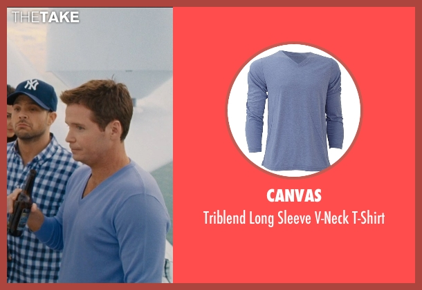 Canvas blue t-shirt from Entourage seen with Kevin Connolly (Eric Murphy)