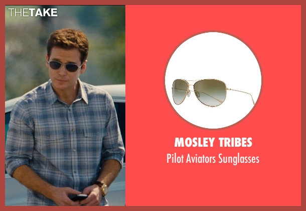 Mosley Tribes gold sunglasses from Entourage seen with Kevin Connolly (Eric Murphy)