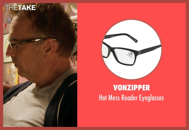 VonZipper black eyeglasses from Black or White seen with Kevin Costner (Elliot Anderson)