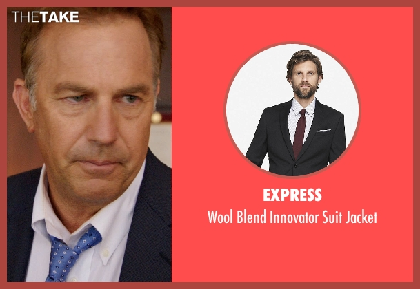 Express black jacket from Black or White seen with Kevin Costner (Elliot Anderson)