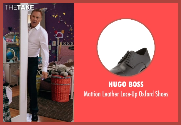 Hugo Boss black shoes from Black or White seen with Kevin Costner (Elliot Anderson)