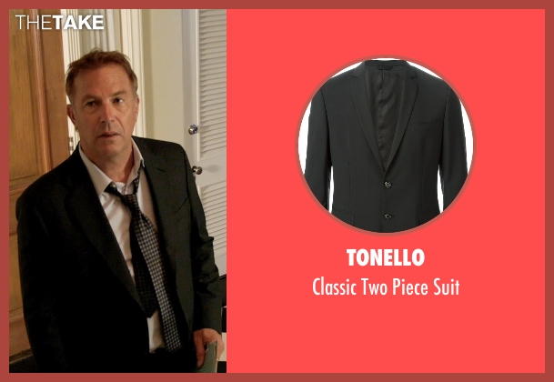 Tonello black suit from Black or White seen with Kevin Costner (Elliot Anderson)
