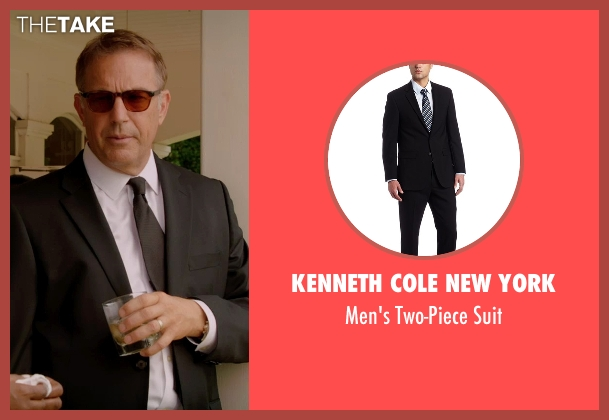 Kenneth Cole New York black suit from Black or White seen with Kevin Costner (Elliot Anderson)