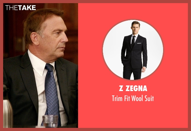 Z Zegna black suit from Black or White seen with Kevin Costner (Elliot Anderson)