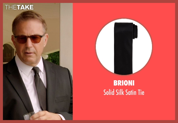 Brioni black tie from Black or White seen with Kevin Costner (Elliot Anderson)
