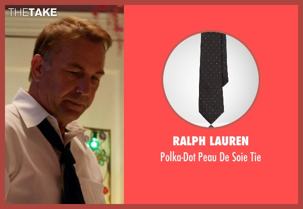 Ralph Lauren black tie from Black or White seen with Kevin Costner (Elliot Anderson)