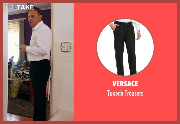 Versace black trousers from Black or White seen with Kevin Costner (Elliot Anderson)