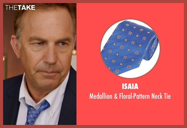 Isaia blue tie from Black or White seen with Kevin Costner (Elliot Anderson)