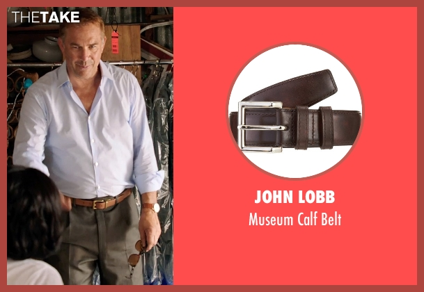John Lobb brown belt from Black or White seen with Kevin Costner (Elliot Anderson)