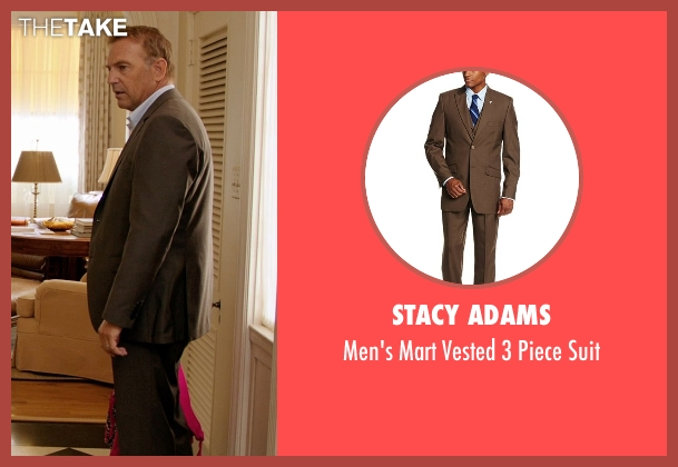 Stacy Adams brown suit from Black or White seen with Kevin Costner (Elliot Anderson)