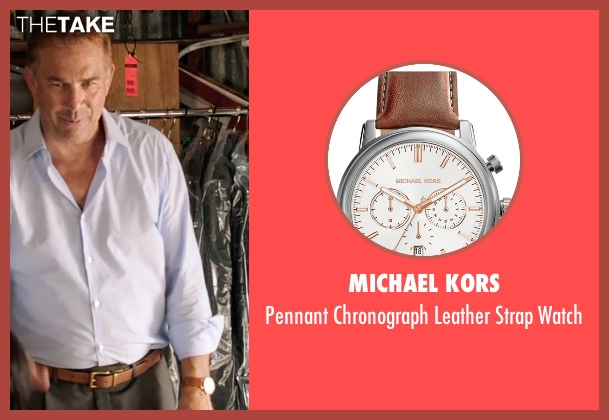 Michael Kors brown watch from Black or White seen with Kevin Costner (Elliot Anderson)