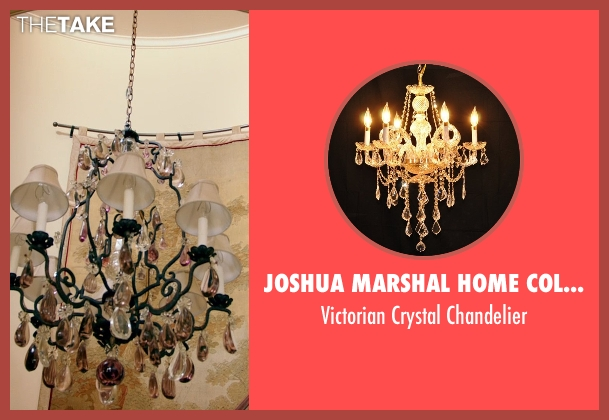 Joshua Marshal Home Collection chandelier from Black or White seen with Kevin Costner (Elliot Anderson)