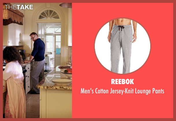 Reebok gray pants from Black or White seen with Kevin Costner (Elliot Anderson)