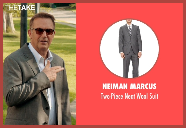 Neiman Marcus gray suit from Black or White seen with Kevin Costner (Elliot Anderson)