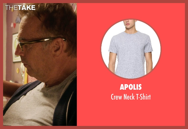Apolis gray t-shirt from Black or White seen with Kevin Costner (Elliot Anderson)