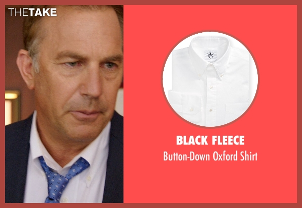 Black Fleece white shirt from Black or White seen with Kevin Costner (Elliot Anderson)
