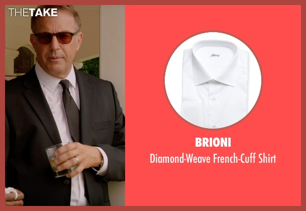 Brioni white shirt from Black or White seen with Kevin Costner (Elliot Anderson)