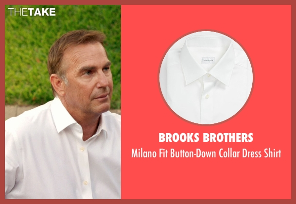 Brooks Brothers white shirt from Black or White seen with Kevin Costner (Elliot Anderson)