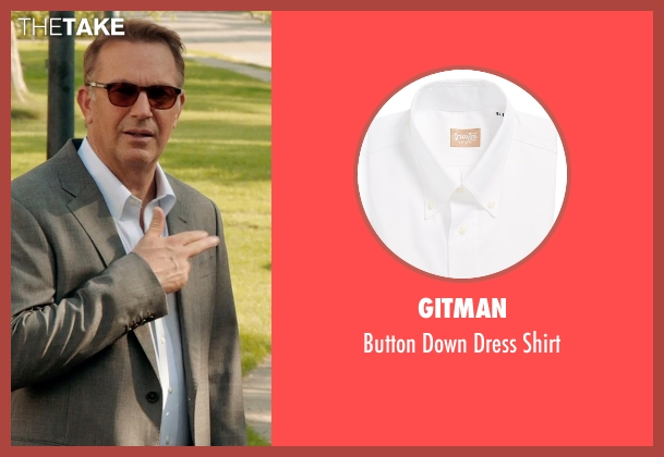 Gitman white shirt from Black or White seen with Kevin Costner (Elliot Anderson)