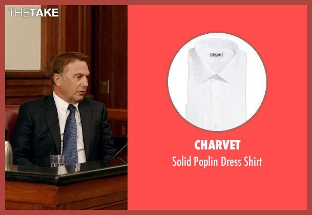 Charvet white shirt from Black or White seen with Kevin Costner (Elliot Anderson)