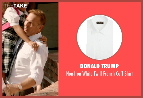 Donald Trump white shirt from Black or White seen with Kevin Costner (Elliot Anderson)
