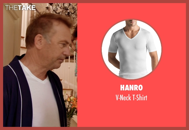 Hanro	 white t-shirt from Black or White seen with Kevin Costner (Elliot Anderson)