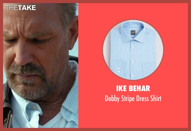 Ike Behar blue shirt from Criminal seen with Kevin Costner (Jericho Stewart)