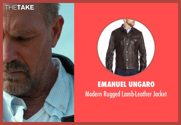 Emanuel Ungaro brown jacket from Criminal seen with Kevin Costner (Jericho Stewart)