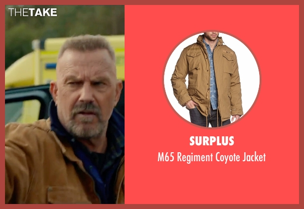 Surplus brown jacket from Criminal seen with Kevin Costner (Jericho Stewart)