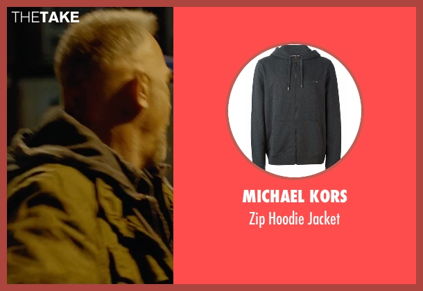 Michael Kors gray jacket from Criminal seen with Kevin Costner (Jericho Stewart)