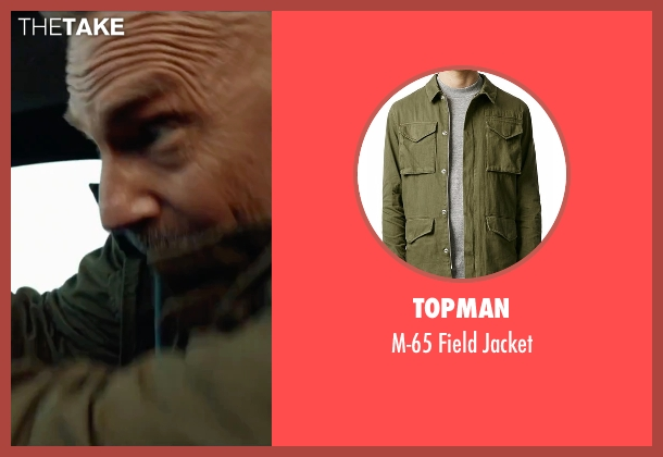 Topman green jacket from Criminal seen with Kevin Costner (Jericho Stewart)